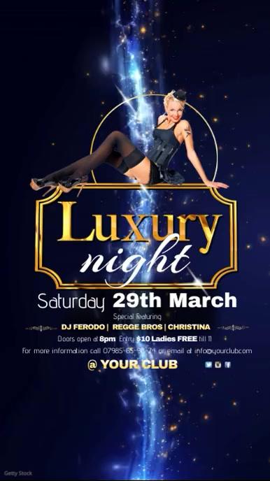Luxury Night Video Invitation