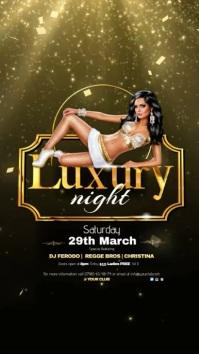 Luxury Night Video Pantalla Digital (9:16) template