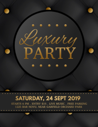 luxury party, party flyer