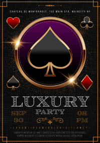 LUXURY PARTY POSTER A4 template