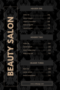 Luxury Price List Template