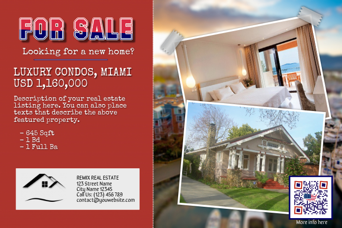 Flyer template for luxury real estate Poster