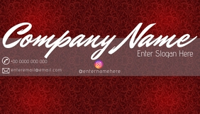 luxury red business card tj Ikhadi Lebhizinisi template