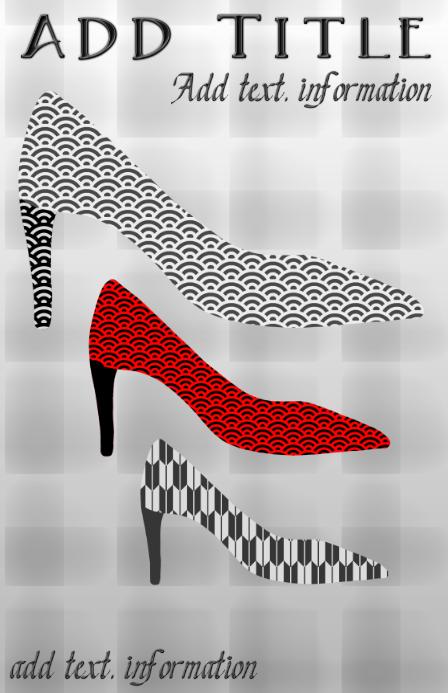 luxury shoes high heel stylish tabloid template