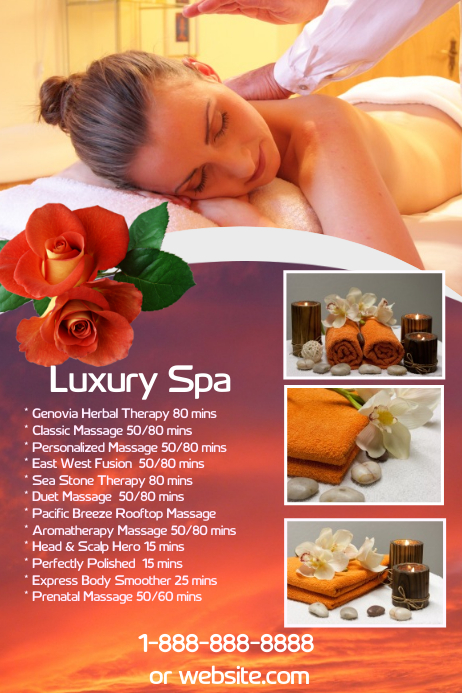 Luxury Spa Flyer Template Postermywall