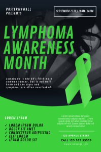 Lymphoma Awareness Month event Flyer Template Poster