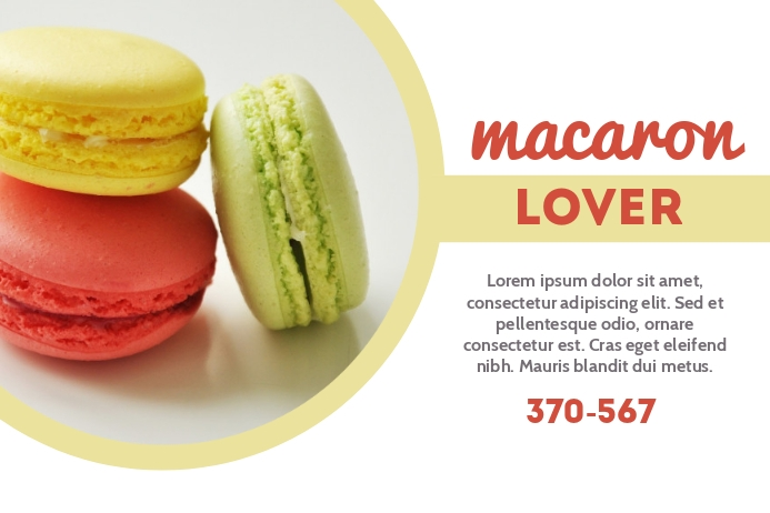 Macaroon Lover Label template