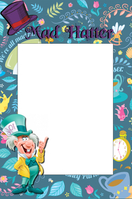 Mad Hatter Party Prop Frame