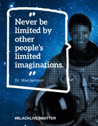 Mae Jenison Quote Black Lives Matter Flyer