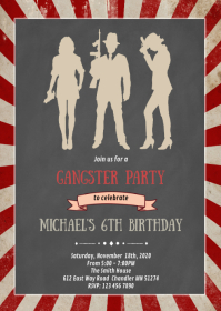 Mafia birthday party invitation