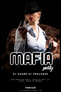Mafia Gangster Party Flyer Template