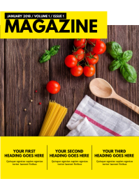 Magazine Cover Template