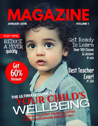 Kids Magazine Cover Template