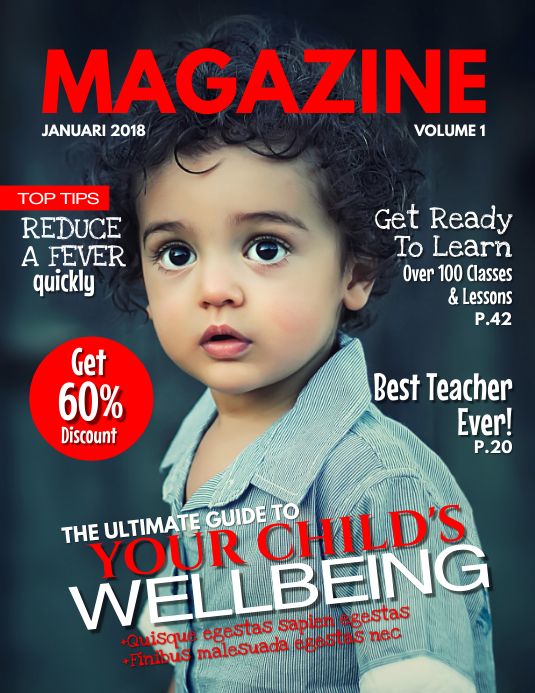 Kids Magazine Cover Template