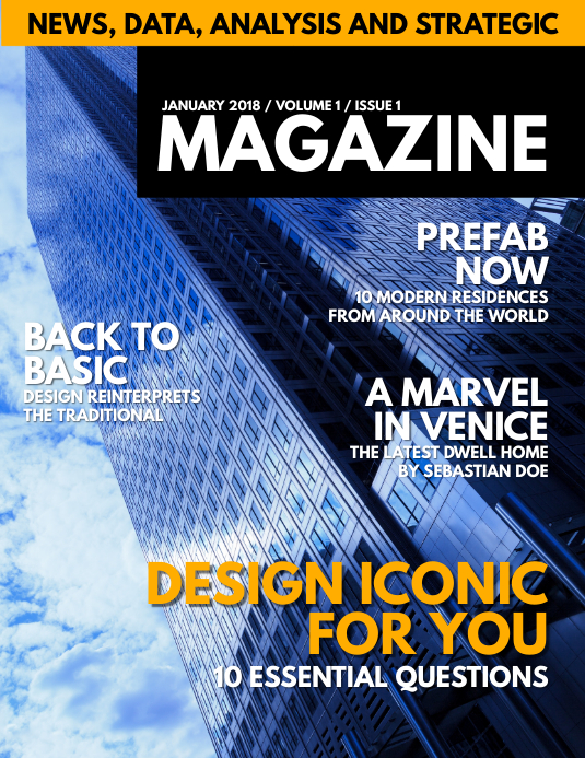 copy of magazine cover template