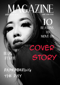 MAGAZINE COVER A4 template