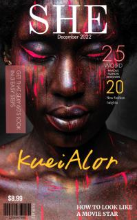 Magazine Cover Template Portada de Kindle
