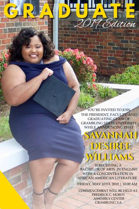 magazine graduation template