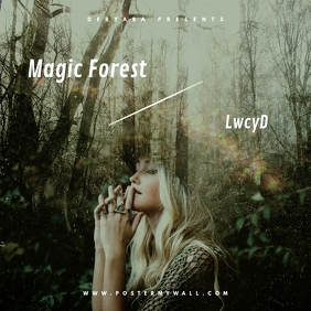 Magic Forest CD Cover Template