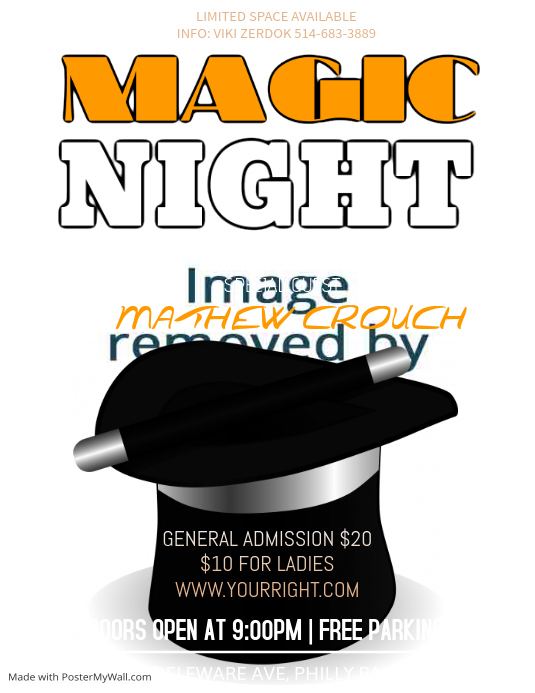 Magic Night Flyer Template