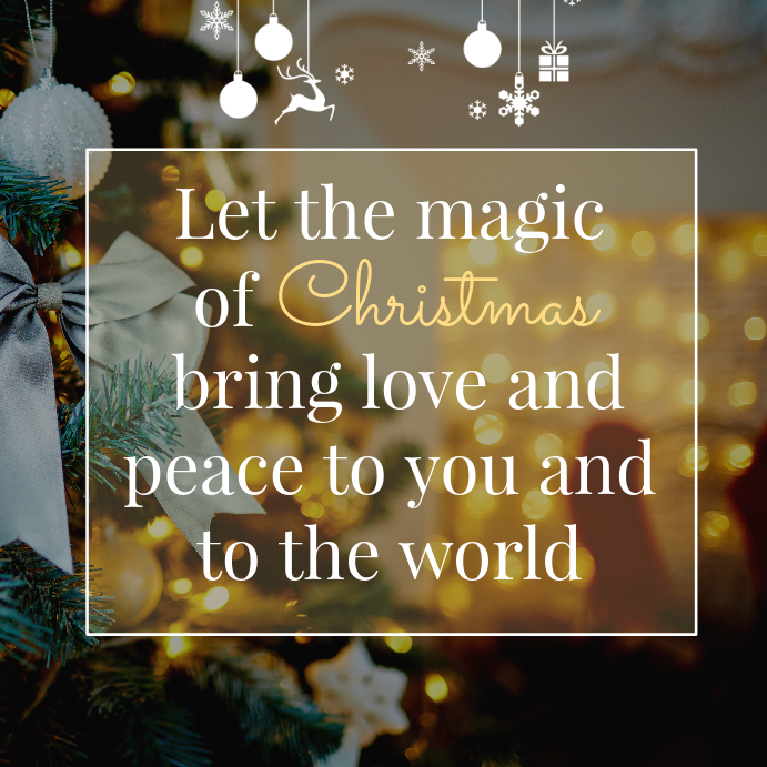 Magic of Christmas Inspirational Quote Instagram