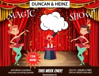 MAGIC SHOW Flyer (US Letter) template