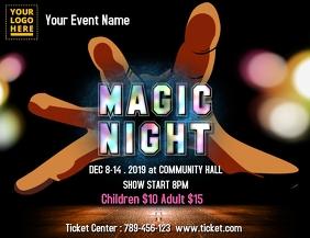 Magic Show Pamflet (Letter AS) template