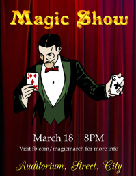 Magic show Pamflet (Letter AS) template