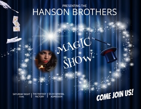MAGIC SHOW Pamflet (VSA Brief) template