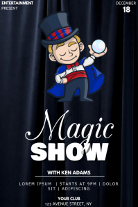 Magic show event party flyer template