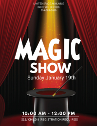 Magic Show Event Poster template