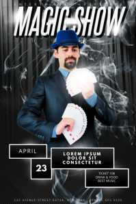 Magic Show Flyer template Plakkaat