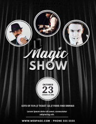 Magic Show Flyer Template with photos