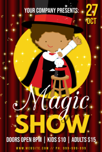 Magic Show Poster Plakkaat template