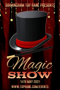 Magic Show Poster Template Plakkaat