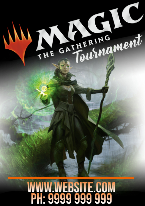 Magic the gathering A5 template