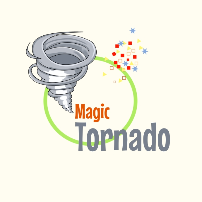 Magic Tornado Logo template