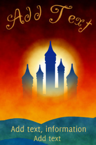 magical fairytale castle poster template