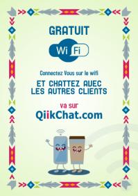 Poster magique wifi A4 pour restaurant