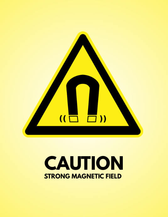 magnetic field sign flyer template