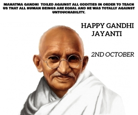 MAHATMA GANDHI JI BIRTHDAY ON 2ND OCTOBER TEM Mittelgroßes Rechteck template