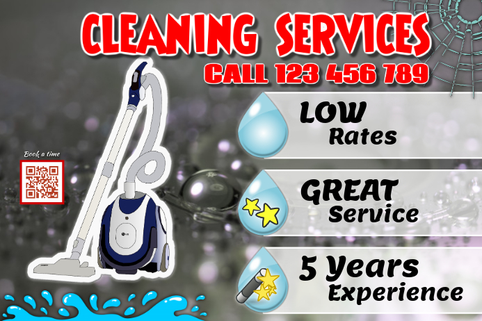 cleaning services flyers maid service poster postermywall