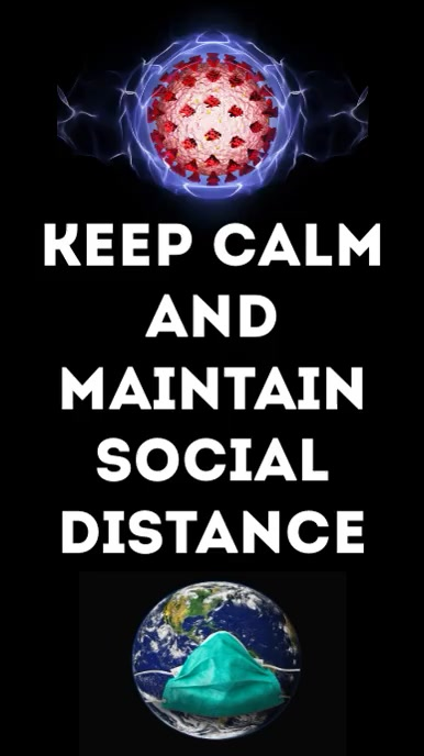 Maintain Social Distance Instagram Story template