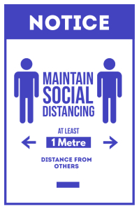 Maintain Social Distancing Covid 19 Poster template