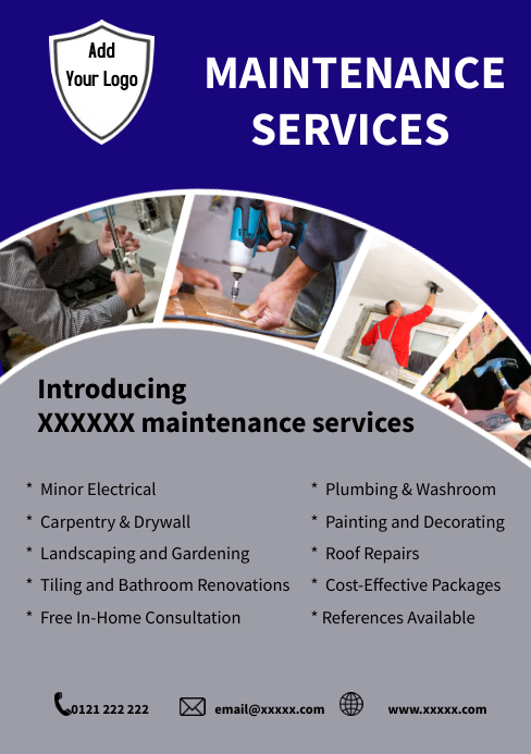 Maintenance Services Flyer Template A5