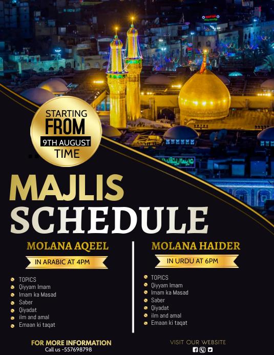 Majalis, Pamflet (VSA Brief) template