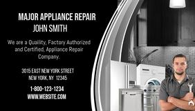 Major Appliance Repair Business Card นามบัตร template