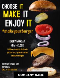 Make a burger night flyer advertisement