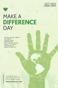 Make A Difference Day Flyer Template Poster