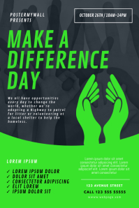 make a difference day Flyer TEmplate